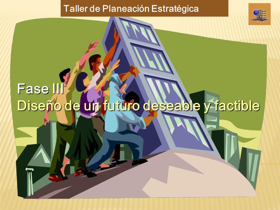 Futuro deseable y factible Fase III : Futuro deseable y factible Entidad Académica Formular un futuro deseable y factible (visión) para la Entidad Académica y listado de Objetivos Estratégicos que permiten el logro de ese futuro deseable.
