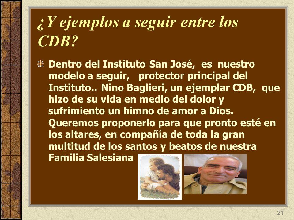22 ¿Tenía Don Bosco en mente la creación de un grupo como los CDB.
