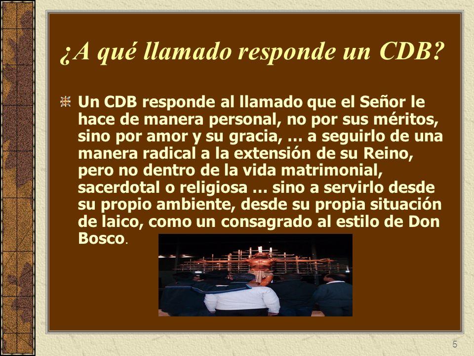 6 ¿Cuál es la diferencia entre la Consagración de un CDB y la de un SDB.