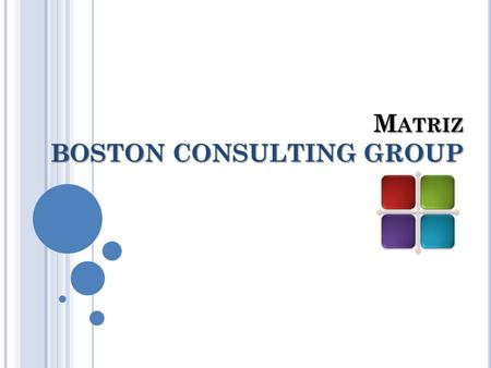 M ATRIZ BOSTON CONSULTING GROUP. A NTECEDENTES Es un método gráfico de análisis de cartera de negocios desarrollado por The Boston Consulting Group en.
