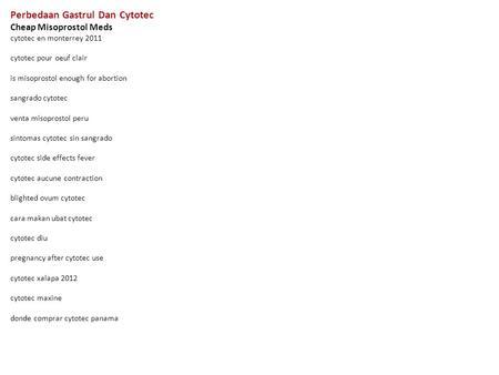 Perbedaan Gastrul Dan Cytotec