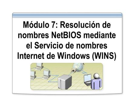 Módulo 7: Resolución de nombres NetBIOS mediante el Servicio de nombres Internet de Windows (WINS)