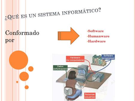  Software  Humanware  Hardware Conformado por.