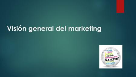 Visión general del marketing