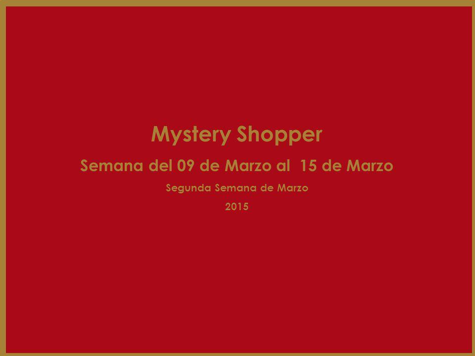 Resultados por local de la Segunda Semana Ranking Mystery Shopper