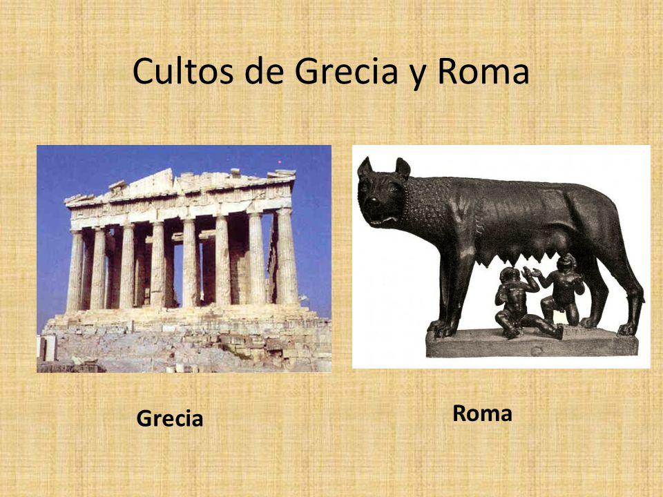 Cultos de Grecia Incruento: sin sangre se entregaban productos alimentarios Cruento: con sangre, es decir se sacrificaban animales