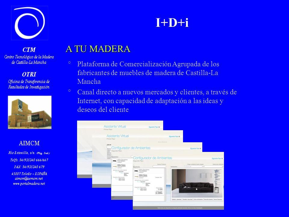 Z PORTALMADERA Portal que incorpora de forma permanente °información de interés para el sector °una base de datos de cada una de las empresas del sector madera y mueble de C-LM: – con distintos niveles de información – información genérica – catálogos I+D+i