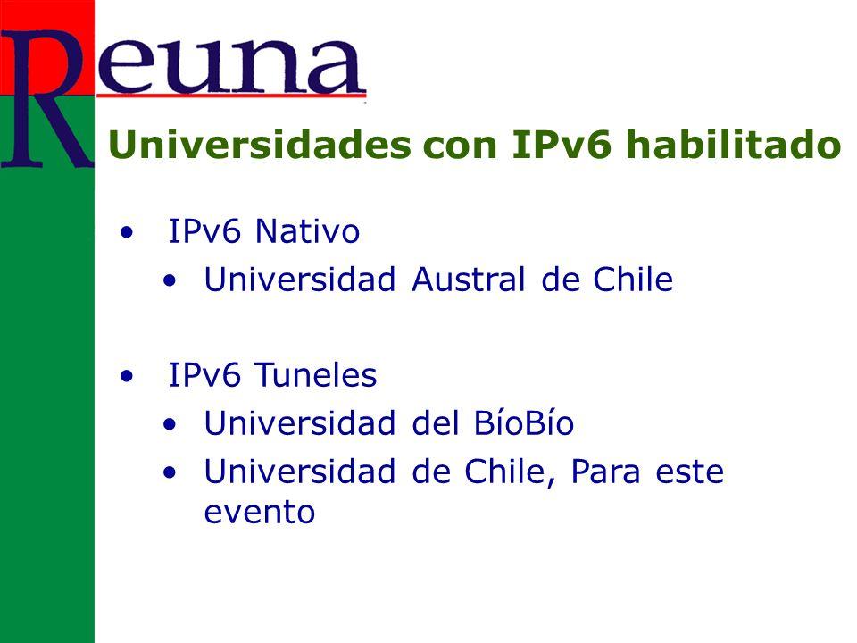 Continuar motivando a las Universidades para que adopten IPv6 Planificación de jornadas de capacitación internas IPv6 DEBE ser adoptado por las Universidades debido a que es una solución real a la limitante de asignación de direcciones válidas para sus usuarios.