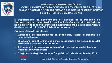 Escala b sica ministerio de seguridad p blica concurso for Ministerio de seguridad telefonos internos