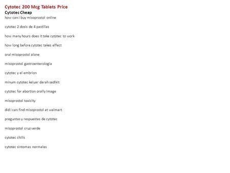 Cytotec Cheap Online