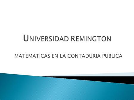 UNIVERSIDAD REMINGTON
