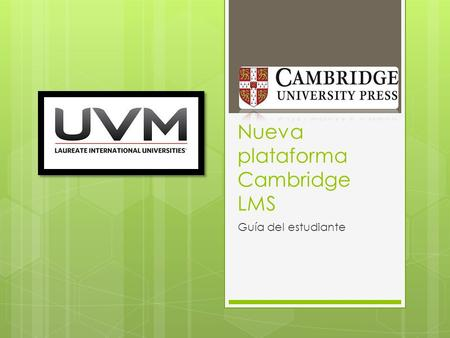 Nueva plataforma Cambridge LMS