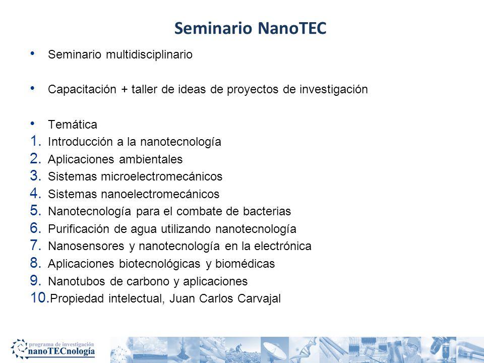 ¿Qué carreras del TEC están directamente relacionadas con nanotecnología.