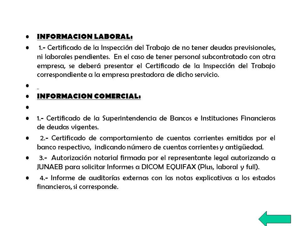 OTROS ANTECEDENTES: 1.- Certificado del Servicio de Salud correspondiente, el cual indique que la empresa no registra ningún sumario sanitario pendiente.