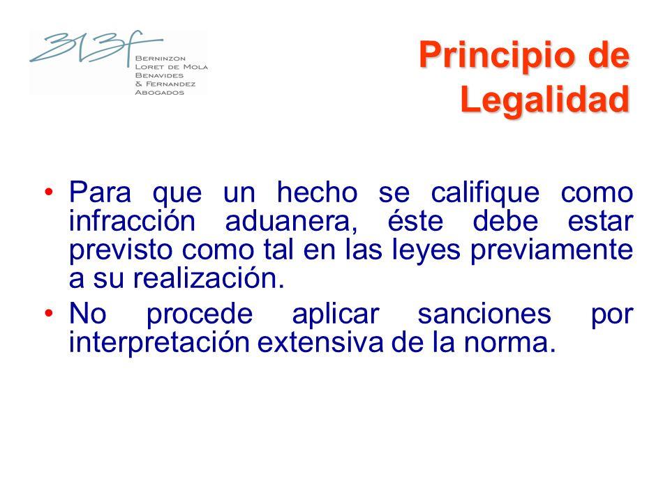 Determinación de la Infracción La infracción será determinada en forma objetiva y podrá ser sancionada administrativamente con: Multas Comiso de mercancías Suspensión, cancelación o inhabilitación para ejercer actividades.