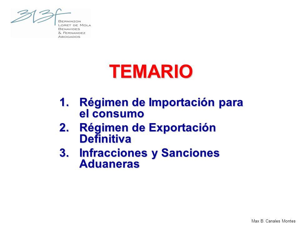 CLASIFICACION DE LOS REGIMENES ADUANEROS En el Texto Único Ordenado de la Ley General de Aduanas - D.S.