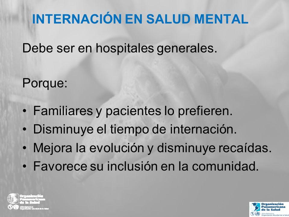 Fortalezas en Argentina Creación de la Dirección Nacional de Salud Mental (2009).