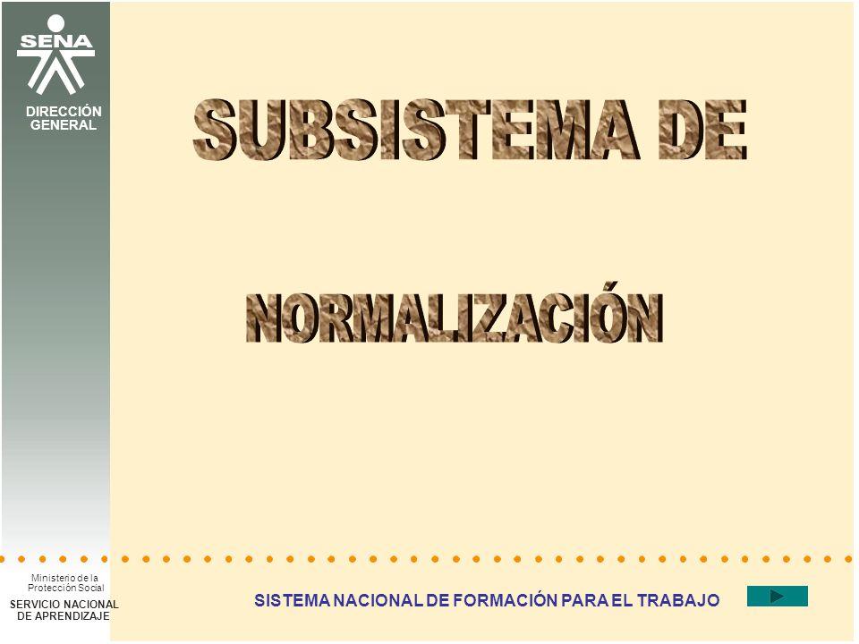 DIRECCIÓN DEL SISTEMA NACIONAL DE FORMACIÓN PARA EL TRABAJO SISTEMA NACIONAL DE FORMACIÓN PARA EL TRABAJO