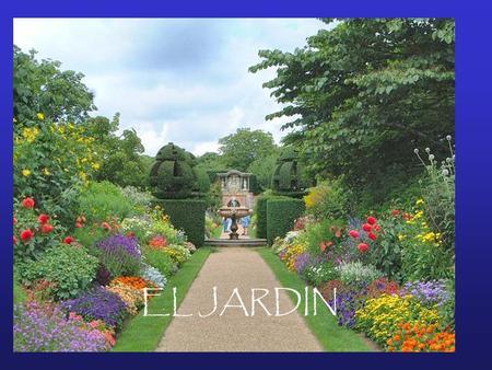 El jardin ppt descargar for Jardines con arboles y arbustos