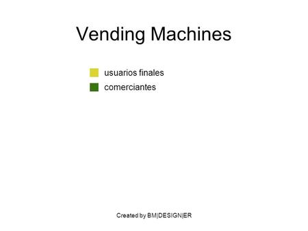 Created by BM|DESIGN|ER Vending Machines usuarios finales comerciantes.