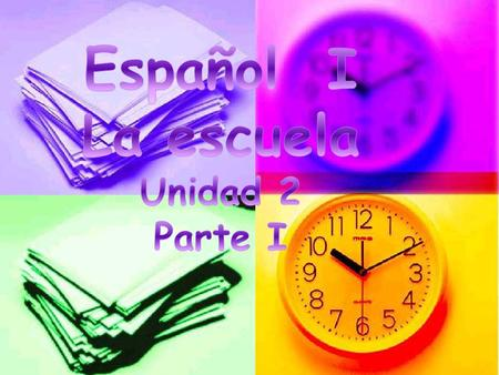 el almuerzo en la … hora in the … hour (class period)