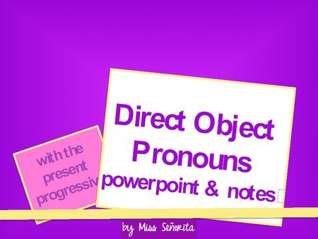 What is the Direct Object? The Direct Object is the person or object that receives the action of the verb. Example: Ricardois planninga vacation. subject.