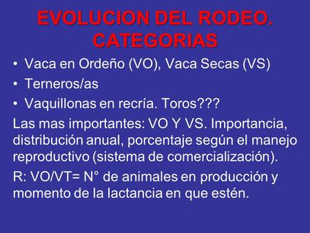 EVOLUCION DEL RODEO. CATEGORIAS