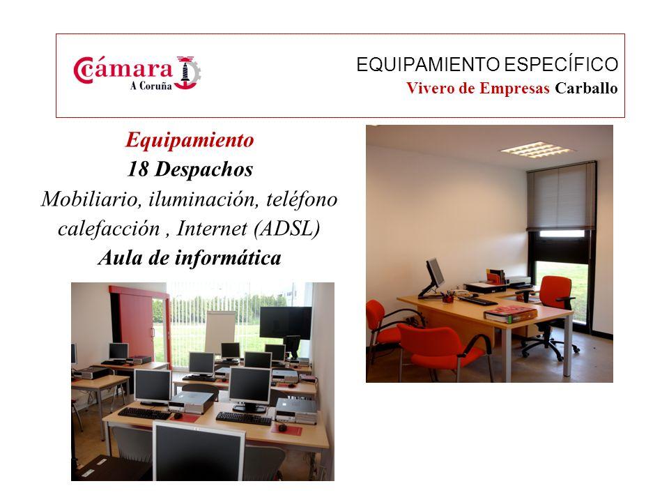 Equipamiento Salas de reuniones Salón de actos EQUIPAMIENTO Vivero de Empresas Carballo