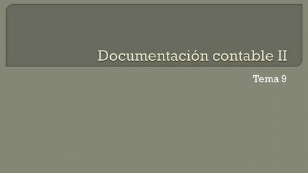Documentación contable II