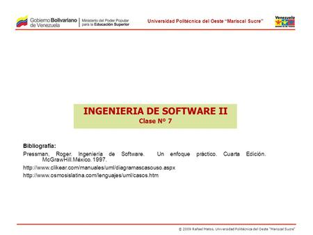 INGENIERIA DE SOFTWARE II Clase Nº 7