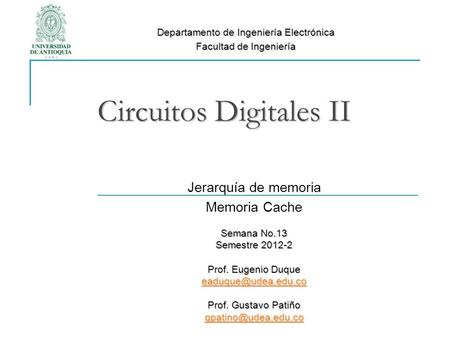 Circuitos Digitales II