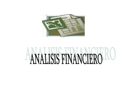 ANALISIS FINANCIERO.