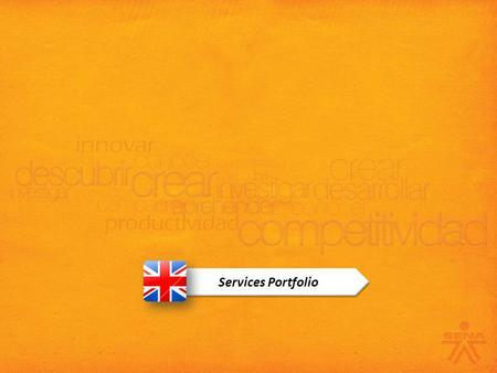 Services Portfolio. Small and Midsize Business New Foreign Investors International Allies Foundations and NGOs Public Institutions Large Companies SENA.