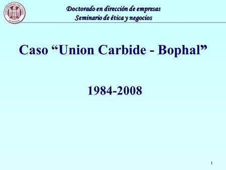 "Caso ""Union Carbide - Bophal"""