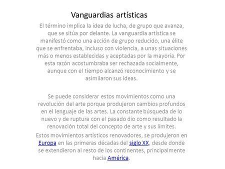 El arte contempor neo indice indice obras arquitectonicas for Como surgio la vanguardia