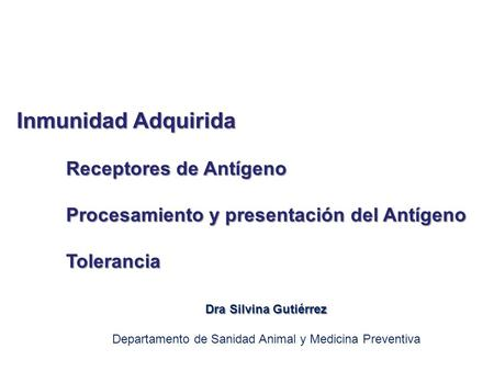 Departamento de Sanidad Animal y Medicina Preventiva