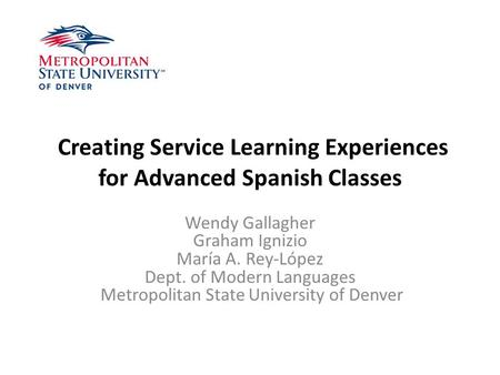 Service learning experience