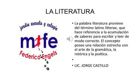 La literatura la palabra literatura proviene del t rmino for De que lengua proviene la palabra jardin