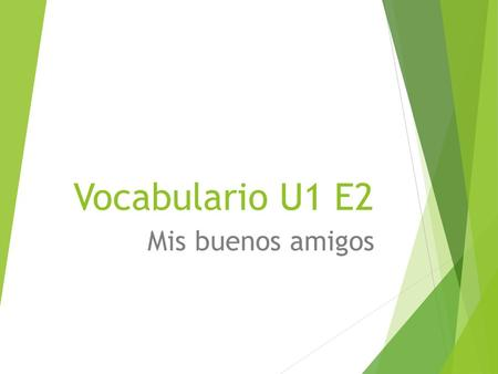 Vocabulario U1 E2 Mis buenos amigos. Appearance  ¿ C ó mo es? – What is he/she like?  Alto(a) – tall  Bajo(a) – short(height)  Bonita(a) – pretty.
