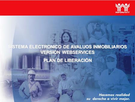 SISTEMA ELECTRONICO DE AVALUOS INMOBILIARIOS VERSION WEBSERVICES PLAN DE LIBERACIÓN.