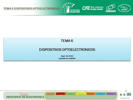 TEMA 6 DISPOSITIVOS OPTOELECTRONICOS