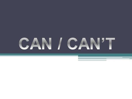 Can Can is an auxiliary verb, a modal auxiliary verb. We use can to: (can es un verbo auxiliar, un verbo auxiliar modal, el uso de can es para:) talk.