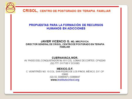 CRISOL, CENTRO DE POSTGRADO EN TERAPIA FAMILIAR