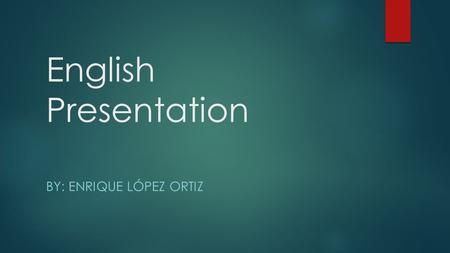 English Presentation BY: ENRIQUE LÓPEZ ORTIZ. Centrifugal Compressors  Introduccion.  Compresor sistema.  References.