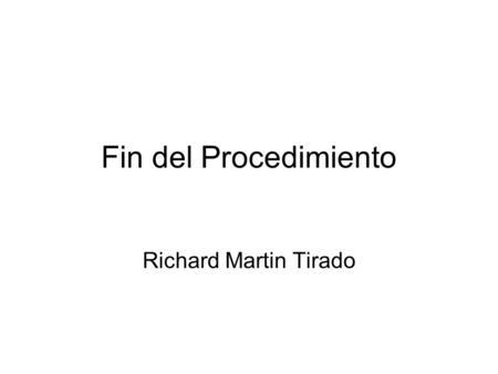 Richard martin tirado pdf