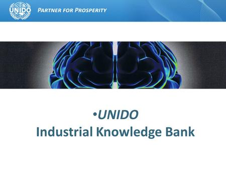 UNIDO Industrial Knowledge Bank. The Economics of Knowledge Knowledge (human capital) has become the most important factor in economic life. It is the.