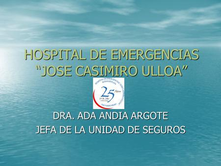 "HOSPITAL DE EMERGENCIAS ""JOSE CASIMIRO ULLOA"""