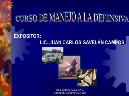 CURSO DE MANEJO A LA DEFENSIVA