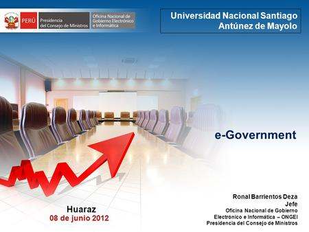 e-Government Universidad Nacional Santiago Antúnez de Mayolo Huaraz