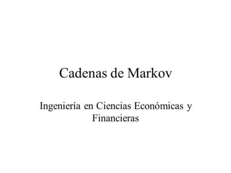 Ingeniería en Ciencias Económicas y Financieras